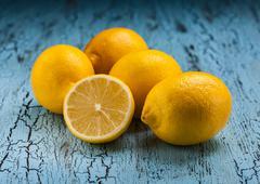 Five lemons - stock photo