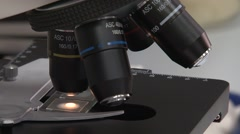 Chemistry labaratory in Ahava cosmetic factory Stock Footage