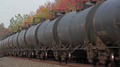 Oil train in Western New York Stock Footage