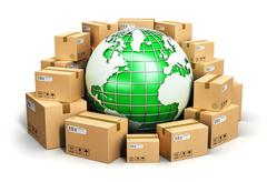 Worldwide shipping and ecology concept - stock illustration