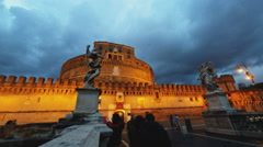 The Mausoleum of Hadrian, usually known as Castel Sant Angelo  Stock Footage