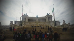 Vittoriano in Rome Stock Footage