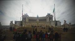 Vittoriano in Rome - stock footage
