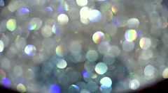 Classy Chandelier Static Mid shot lit out of focus - stock footage