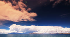 4k timelapse huge clouds mass rolling over lake namtso & snow mountain in tibet Stock Footage