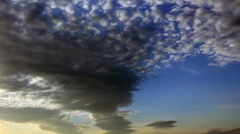 Sky clouds in sunset light Stock Footage