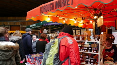 Borough Market, Southwark, London, United Kingdom - stock footage