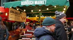 Borough Market, Southwark, London, United Kingdom Stock Footage