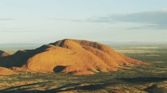 The Olgas near Uluru - Aerial shot Stock Footage