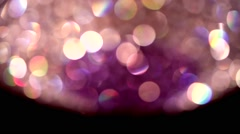 Chandelier white Crystal classy out of focus pan 01 - stock footage