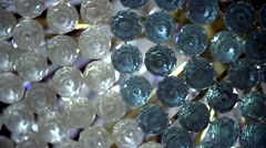 Chandelier white Crystal classy close up static - stock footage