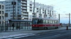 TTC Streetcar Toronto - stock footage