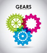 Stock Illustration of gears icon design, vector illustration eps10 graphic