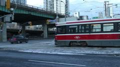 TTC Streetcar Toronto Stock Footage