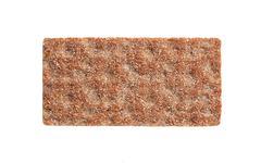 Whole grain crisp bread isolated on white Stock Photos
