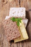 various types of crisp bread - stock photo