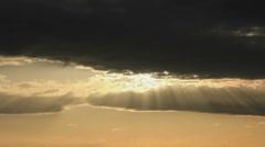 Sun rays dissipate Stock Footage