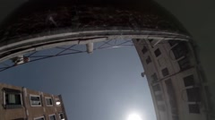 Venice buildings viewed from underwater perspective looking up Stock Footage