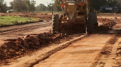 Construction work on development site with bulldozer Stock Footage