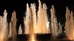 Fountain stream in lights Stock Footage