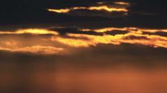 Sun lights on clouds Stock Footage