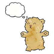 Stock Illustration of cartoon teddy bear with thought bubble