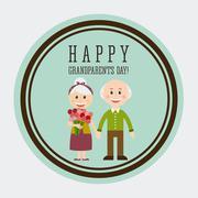 Stock Illustration of happy grandparents day design, vector illustration eps10 graphic