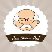 grandfathers day design, vector illustration eps10 graphic - stock illustration