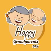 happy grandparents day design, vector illustration eps10 graphic - stock illustration