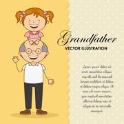 grandfather design, vector illustration eps10 graphic - stock illustration