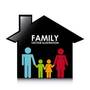 Stock Illustration of happy family design, vector illustration eps10 graphic