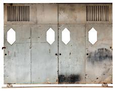 old sliding door - stock photo