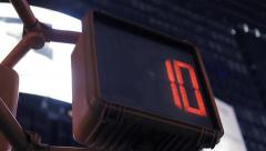 Pedestrian crossing sign. numbers counting down. stop signal. transportation Stock Footage