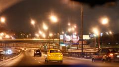 Moscow Cityscape tunnel time lapse Stock Footage