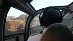 4K Helicopter Pilot Flying In Grand Canyon Stock Footage
