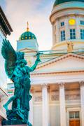 Element Of Statue Of Emperor Alexander II Of Russia Stock Photos