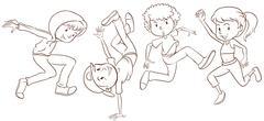Dancing - stock illustration
