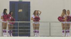 Cheerleading girls Stock Footage