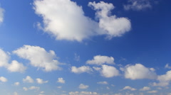 White clouds on blue sky - stock footage
