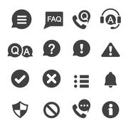 Information and notification icon Stock Illustration