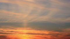 Evening sky smog Stock Footage