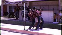 Black Men Limbo Dance Band Vintage Film Retro Film Home Movie 8128 Stock Footage