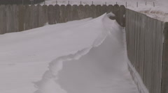 Blizzard snow and high wind in severe snow storm on cold winter day Stock Footage