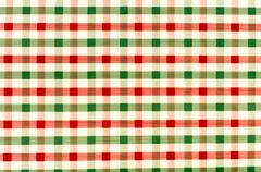 seamless retro red and green squared fabric - stock photo