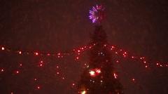 Illumination on Christmas tree show Stock Footage