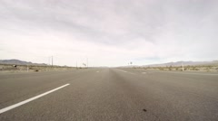 4K Driving POV Highway American Desert Stock Footage