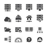 ftp & hosting icons - stock illustration