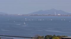 Lake Biwa From Miidera in Otsu, Japan Stock Footage