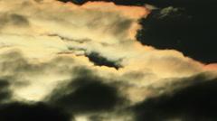 Dark clouds structure Stock Footage