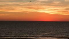 Sunrise on Ocean in Morning - Time-lapse Sun Rising Water Timelapse Stock Footage